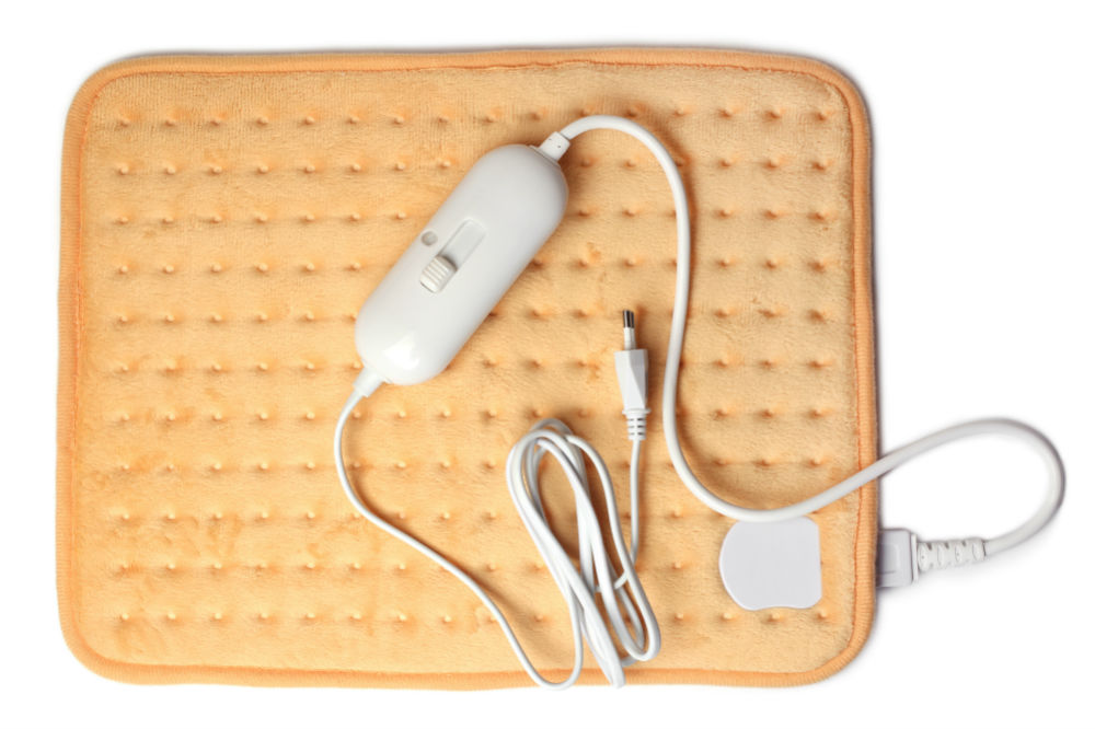 yellow electric heating pad