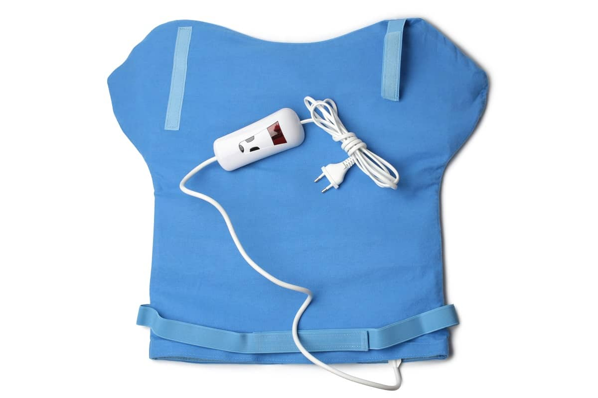 Blue electric heating pad