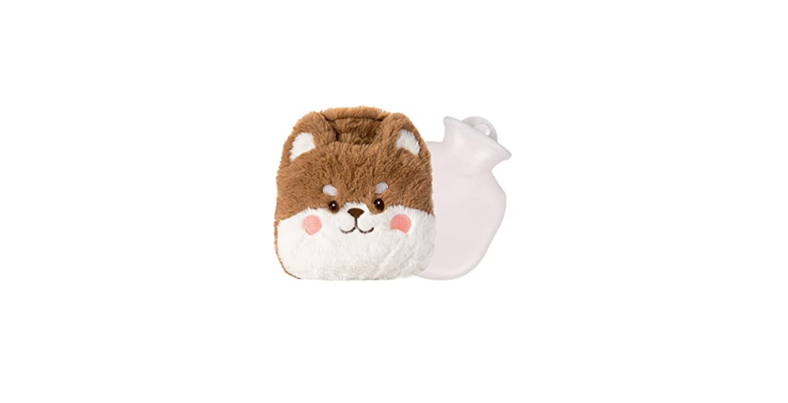 Cstore Rubber Hot Water Bottles with Faux Fur Cover
