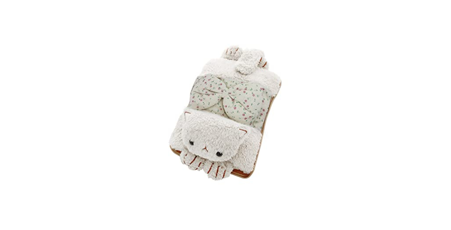 Toyuugo Heated Hot Water Bottle with Soft Fleece Cover